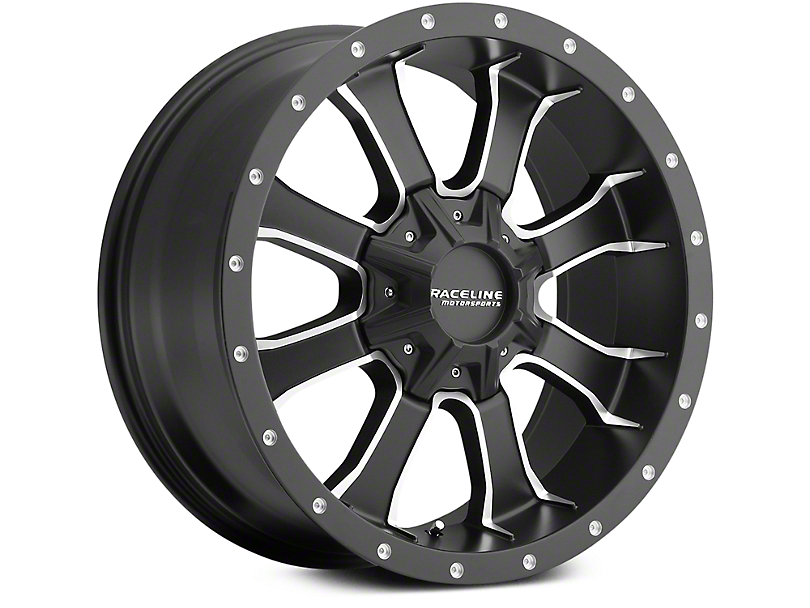 Raceline Mamba Black Milled 6-Lug Wheel - 20x9 (07-19 Sierra 1500)