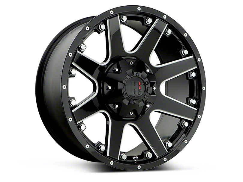 Havok Off-Road H102 Black Milled 6-Lug Wheel - 18x9 (07-18 Sierra 1500)