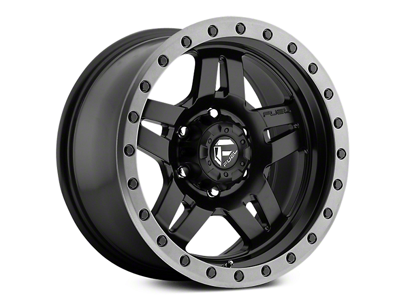 Fuel Wheels Anza Matte Black w/ Anthracite Ring 6-Lug Wheel - 17x8.5 (07-19 Sierra 1500)