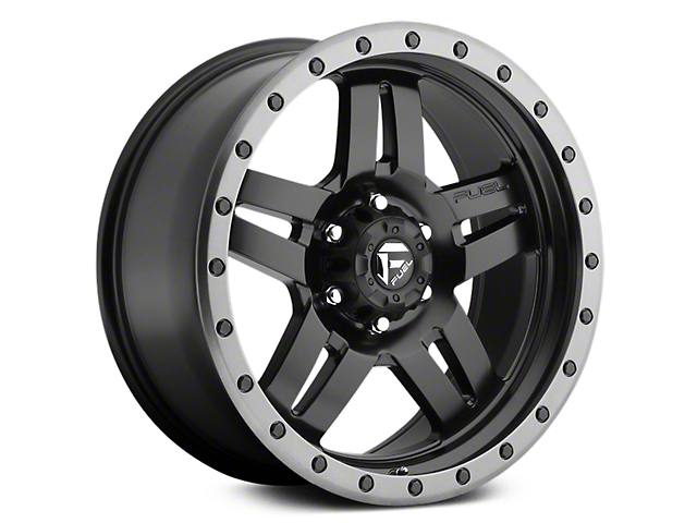 Fuel Wheels Anza Matte Black w/ Anthracite Ring 6-Lug Wheel - 20x9 (07-18 Sierra 1500)