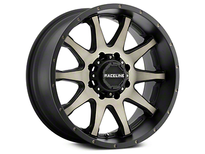 Raceline Shift Black Machined w/ Dark Tint 6-Lug Wheel - 18x9 (07-18 Sierra 1500)