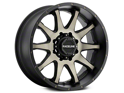 Raceline Shift Black Machined w/ Dark Tint 6-Lug Wheel - 20x9 (07-18 Sierra 1500)