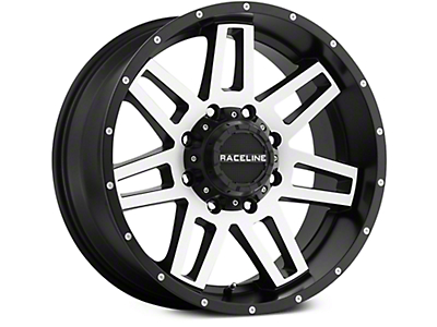 Raceline Injector Black Machined 6-Lug Wheel - 18x9 (07-18 Sierra 1500)