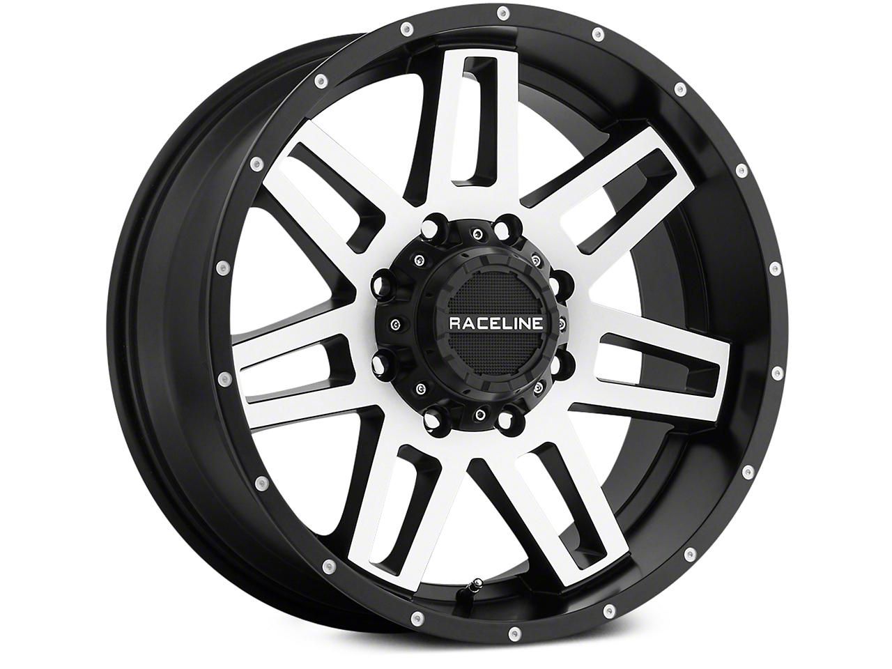 Raceline Injector Black Machined 6-Lug Wheel - 20x9 (07-18 Sierra 1500)