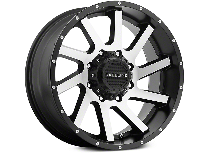 Raceline Twist Black Machined 6-Lug Wheel - 20x9 (07-19 Sierra 1500)