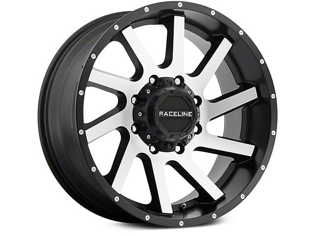 Raceline Twist Black Machined 6-Lug Wheel - 20x9 (07-19 Sierra 1500)