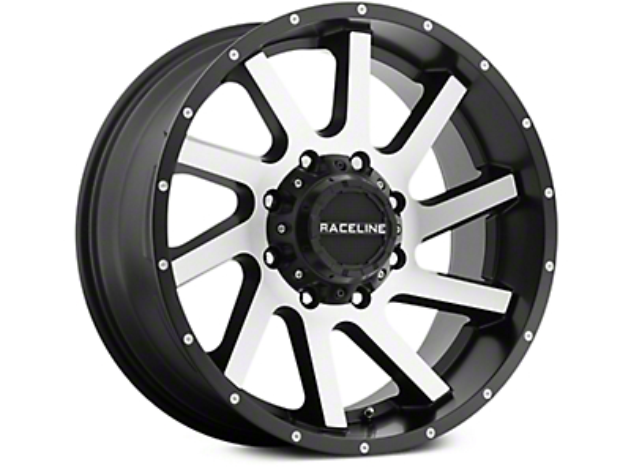 Raceline Twist Black Machined 6-Lug Wheel - 20x9 (07-18 Sierra 1500)