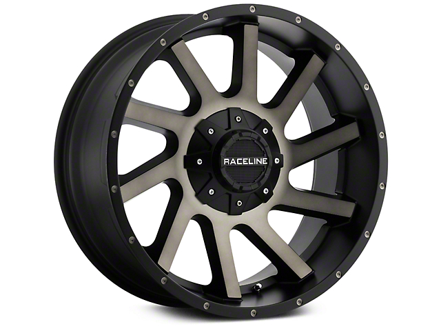 Raceline Twist Black Machined w/ Dark Tint 6-Lug Wheel - 20x9 (07-19 Sierra 1500)