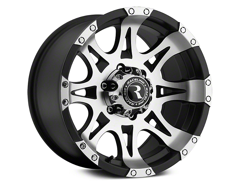 Raceline Raptor Black Machined Wheel - 18x9 (07-19 Sierra 1500)