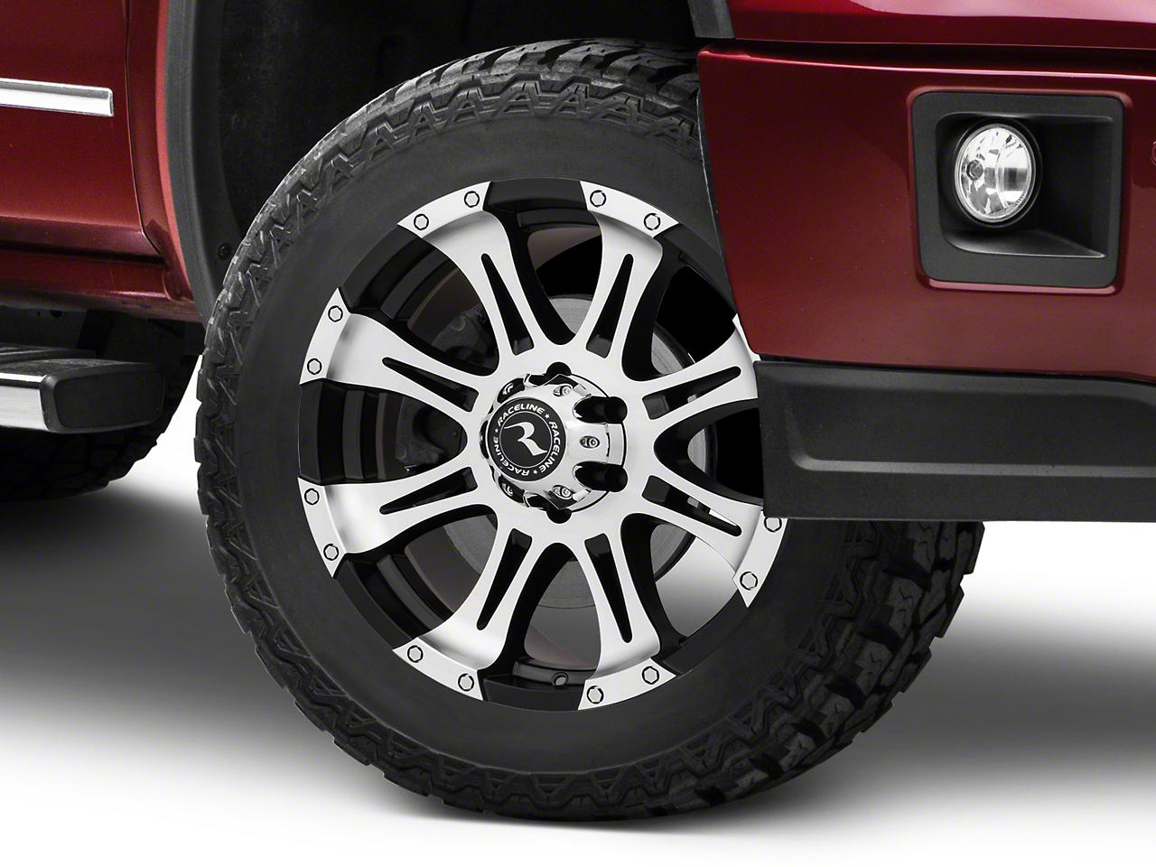Raceline Raptor Black Machined Wheel - 20x9 (07-18 Sierra 1500)