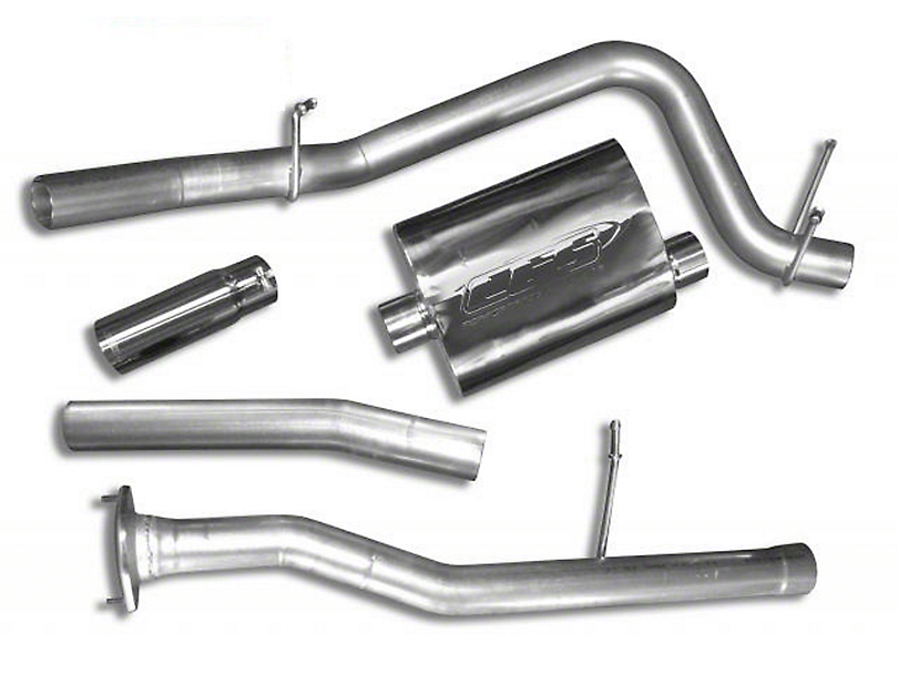 CGS Motorsports Stainless Single Exhaust System - Side Exit (10-11 6.2L Sierra 1500)