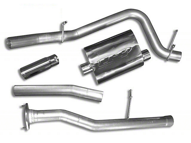CGS Motorsports Stainless Single Exhaust System; Side Exit (10-11 6.2L Sierra 1500)