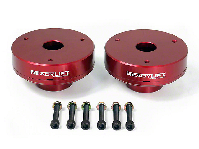 ReadyLIFT 2.25 Inch Billet Aluminum Leveling Kit; Red (07-13 2WD/4WD Sierra 1500)