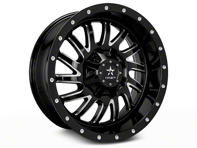 RBP 78R Uzi Gloss Black Machined 6-Lug Wheel; 20x9 (07-18 Sierra 1500)