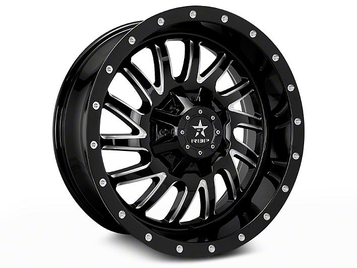 RBP 78R Uzi Gloss Black Machined 6-Lug Wheel - 20x9 (07-18 Sierra 1500)