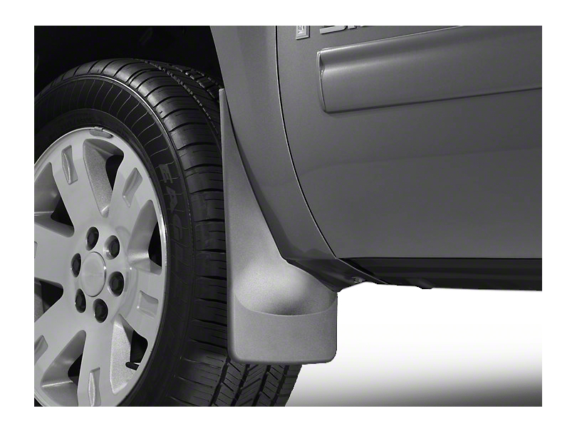 Weathertech No Drill Front Mud Flaps - Black (07-13 Sierra 1500 w/o Fender Flares)