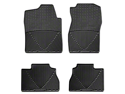 Weathertech All Weather Front & Rear Floor Mats - Black (07-13 Sierra 1500 Extended Cab, Crew Cab)
