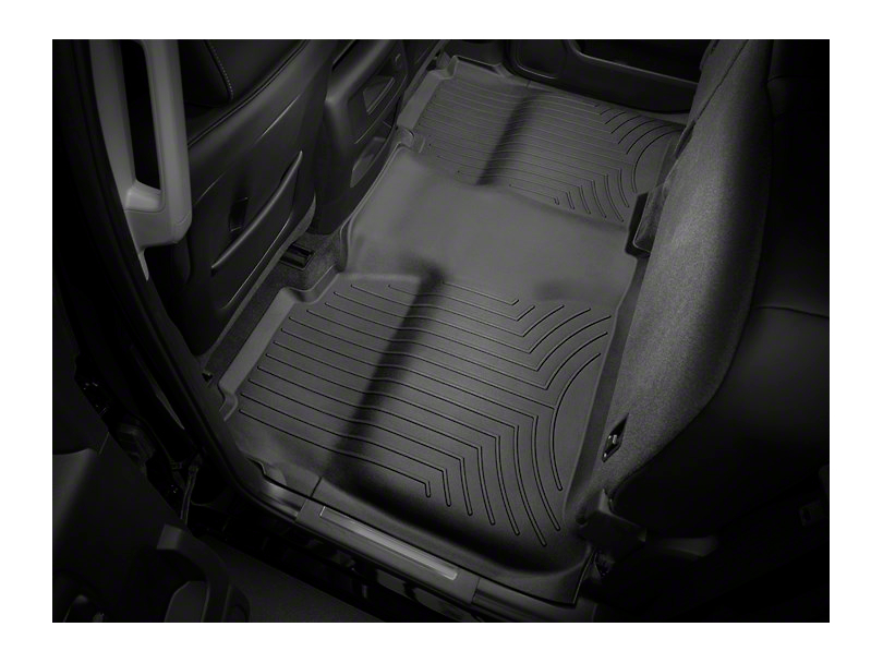 Weathertech DigitalFit Rear Floor Liner w/ Underseat Coverage - Black (14-18 Sierra 1500 Crew Cab)