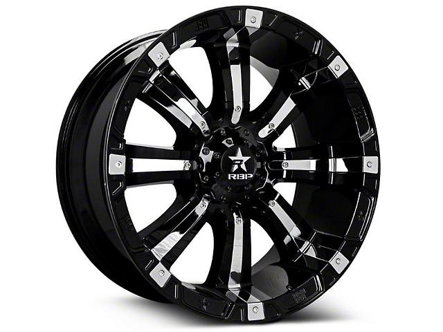 RBP 94R Black w/ Chrome Inserts 6-Lug Wheel - 18x10 (07-18 Sierra 1500)