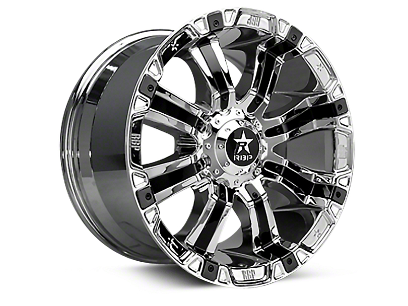 RBP 94R Chrome w/ Black Inserts 6-Lug Wheel - 18x10 (07-18 Sierra 1500)