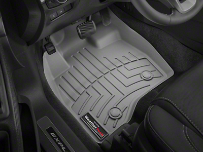 Weathertech DigitalFit Front & Rear Floor Liners w/ Underseat Coverage - Over The Hump - Cocoa (14-18 Sierra 1500 Crew Cab)