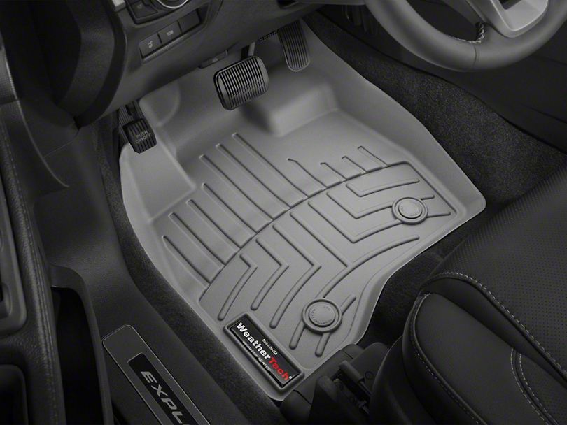 Weathertech DigitalFit Front Over the Hump & Rear Floor Liners w/ Underseat Coverage - Black (14-18 Sierra 1500 Crew Cab)
