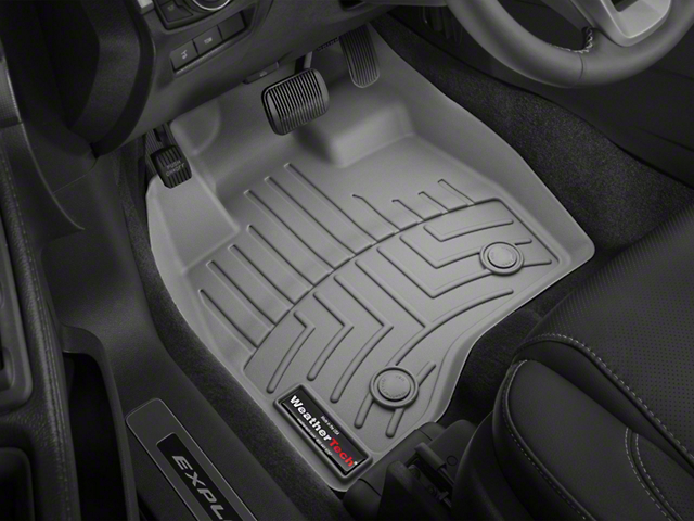 Weathertech DigitalFit Front & Rear Floor Liners - Over the Hump - Cocoa (14-18 Sierra 1500 Double Cab)