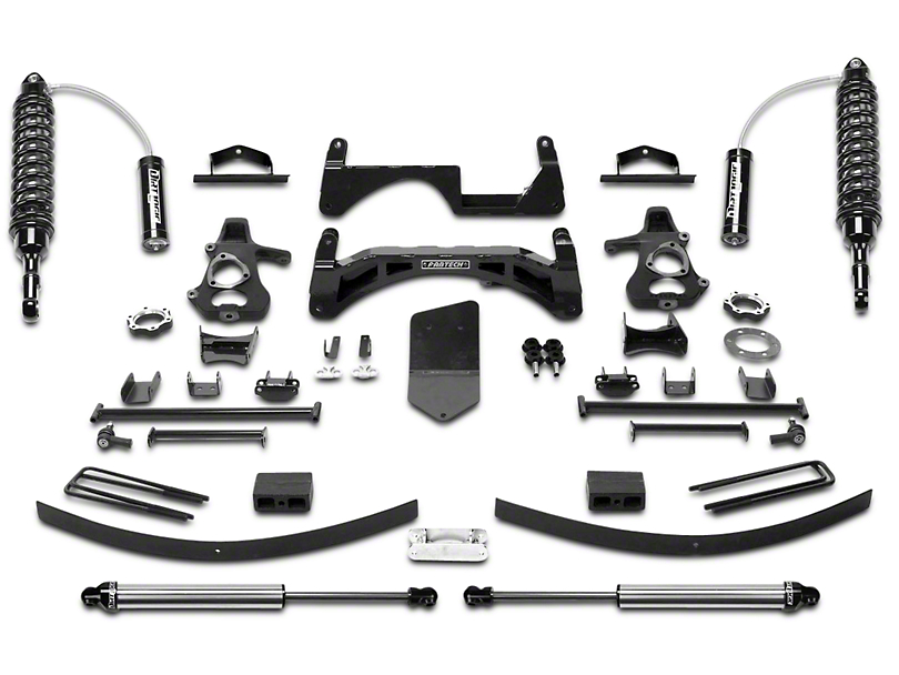 Fabtech 6 in. Performance Lift System w/ Dirt Logic 2.5 Reservoir Coil-Overs & Shocks (07-13 4WD Sierra 1500 Extended Cab, Crew Cab)