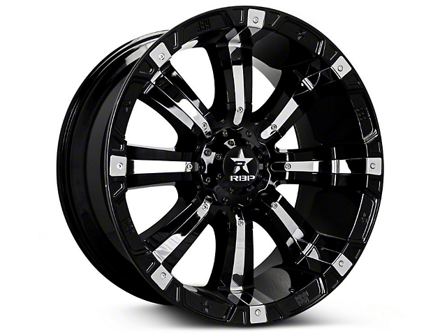 RBP 94R Black w/ Chrome Inserts 6-Lug Wheel; 20x10 (07-18 Sierra 1500)