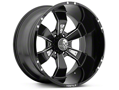 Hostile Hammered Blade Cut 6-Lug Wheel - 20x10 (07-18 Sierra 1500)