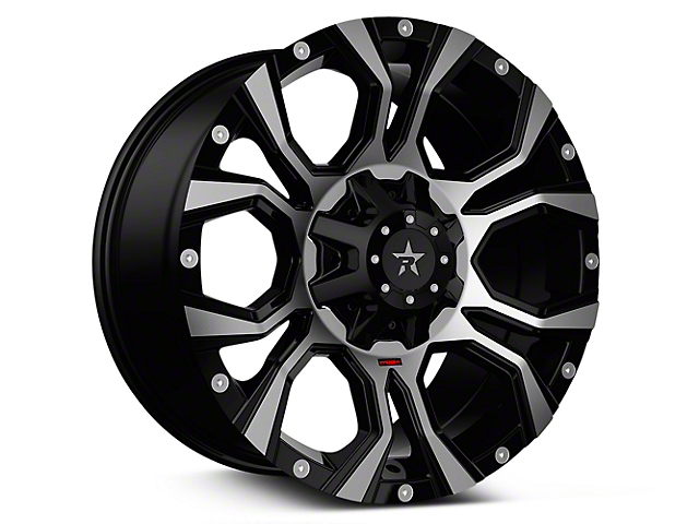 RBP 64R Widow Machined Black 6-Lug Wheel - 20x10 (07-19 Sierra 1500)