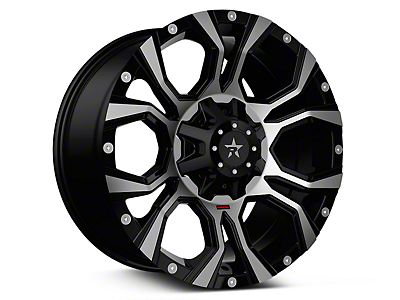 RBP 64R Widow Machined Black 6-Lug Wheel - 20x10 (07-18 Sierra 1500)