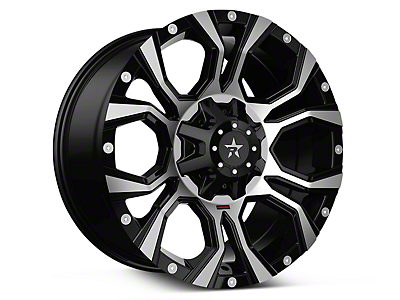 RBP 64R Widow Machined Black 6-Lug Wheel - 18x9 (07-18 Sierra 1500)