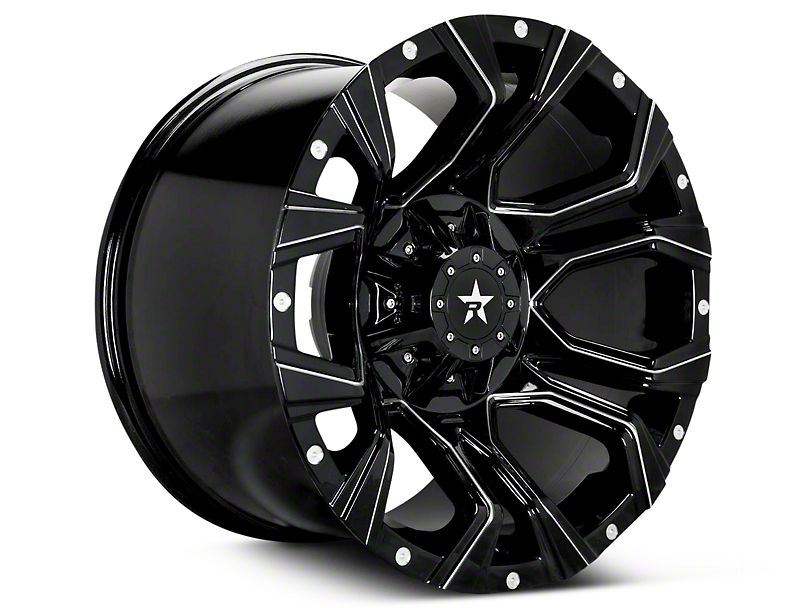 RBP 64R Widow Gloss Black Machined 6-Lug Wheel - 18x9 (07-18 Sierra 1500)