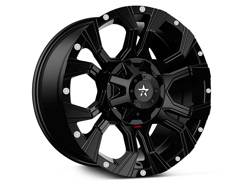 RBP 64R Widow Full Black 6-Lug Wheel - 18x9 (07-19 Sierra 1500)
