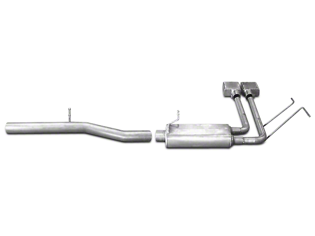 Gibson 3-Inch / 2-Inch Super Truck Stainless Exhaust System; Middle Side Exit (14-18 5.3L Sierra 1500)