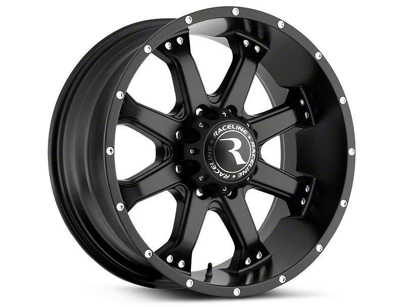 Raceline Assault Black 6-Lug Wheel - 20x9 (07-19 Sierra 1500)