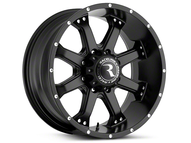 Raceline Assault Black 6-Lug Wheel - 20x9 (07-18 Sierra 1500)