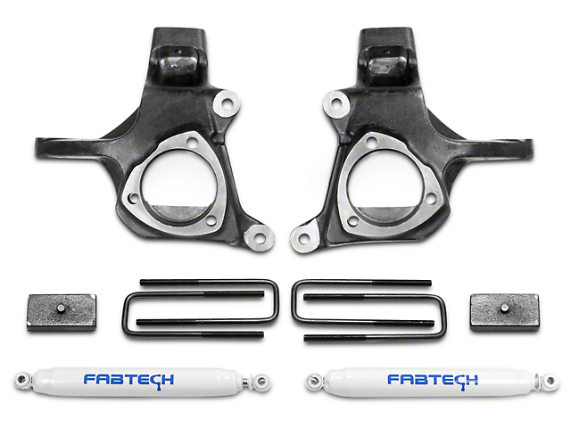 Fabtech 3.50-Inch Spindle Lift Kit with Shocks (07-13 2WD Sierra 1500)