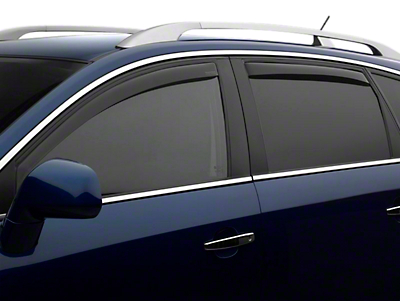 Weathertech Front & Rear Side Window Deflectors - Light Smoke (14-18 Sierra 1500 Double Cab, Crew Cab)