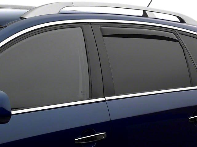 Weathertech Rear Side Window Deflectors - Light Smoke (14-18 Sierra 1500 Double Cab, Crew Cab)