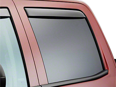 Weathertech Rear Side Window Deflectors - Dark Smoke (07-13 Sierra 1500 Extended Cab, Crew Cab)