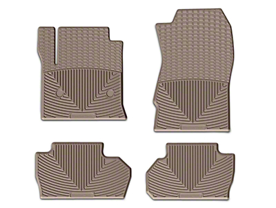 Weathertech All Weather Front & Rear Rubber Floor Mats - Black (14-18 Sierra 1500 Double Cab, Crew Cab)