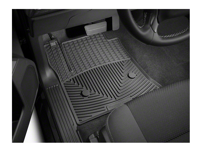 Weathertech All Weather Front Rubber Floor Mats - Black (14-18 Sierra 1500)