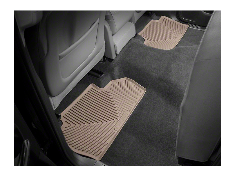 Weathertech All Weather Rear Floor Mats - Tan (14-18 Sierra 1500 Double Cab, Crew Cab)