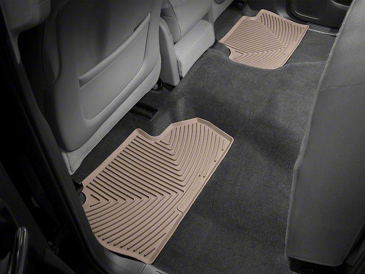 Weathertech All Weather Rear Floor Mats - Tan (14-18 Sierra 1500 Double Cab, Crew Cab)