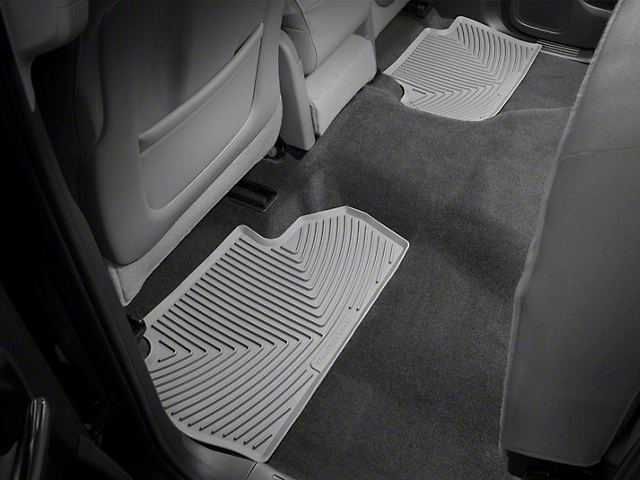 Weathertech All Weather Rear Floor Mats - Gray (14-18 Sierra 1500 Double Cab, Crew Cab)