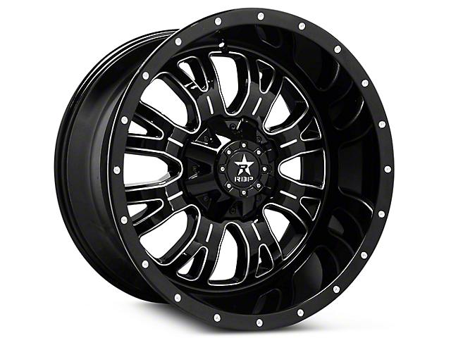 RBP 89R Assassin Gloss Black Machined 6-Lug Wheel - 18x9 (07-19 Sierra 1500)