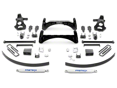Fabtech 6 in. Basic Lift System w/ Shocks (07-13 2WD/4WD Sierra 1500)