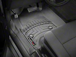 Weathertech DigitalFit Front Floor Liners; Black (14-18 Sierra 1500 Double Cab, Crew Cab w/o Floor Shifter)